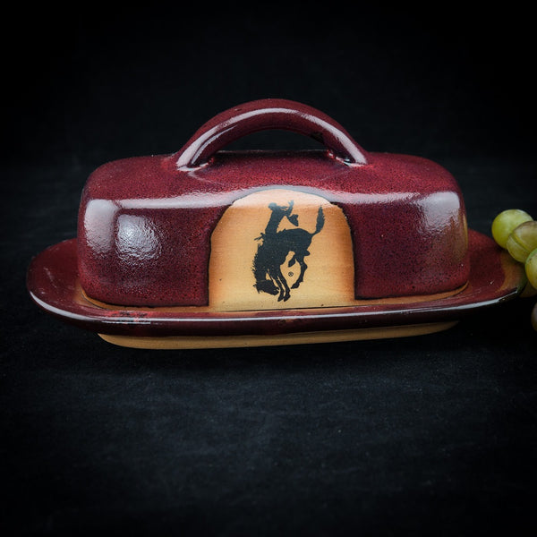 Pendleton Round-Up Pottery Butter Dish