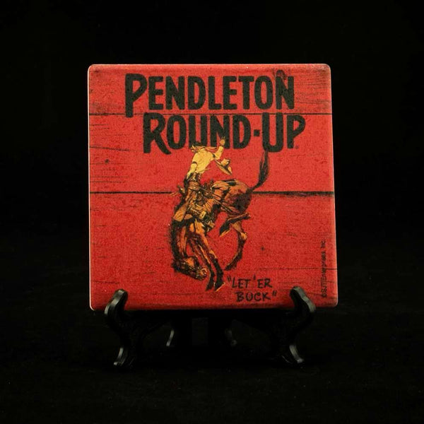 Pendleton Round-Up Stone Coaster w/ Easel