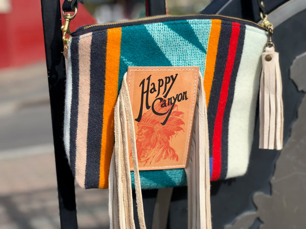 Happy Canyon Wool Purse w/ Fringe