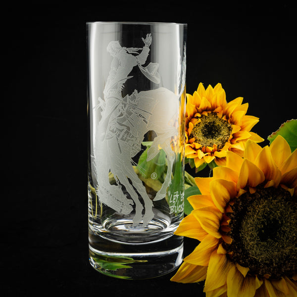 Pendleton Round-Up Crystal Cylinder Vase