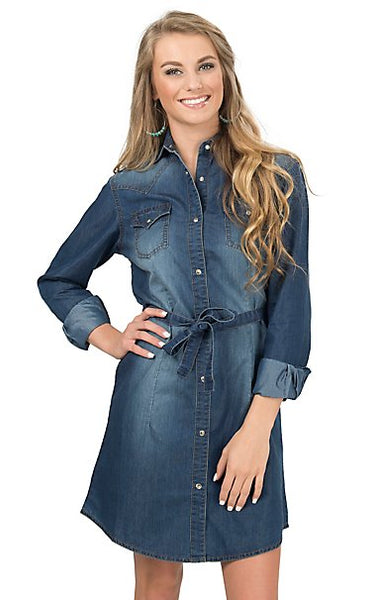 Ladies Wrangler Pendleton Round-Up Denim Dress