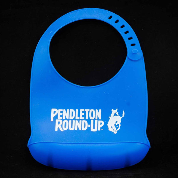 Pendleton Round-Up Blue Silicone Baby Bib