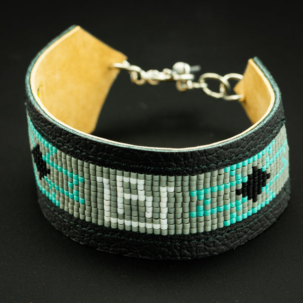 Pendleton Round-Up Leather Beaded RU Bracelet