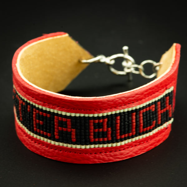 Pendleton Round-Up Leather Beaded Let 'er Buck Bracelet
