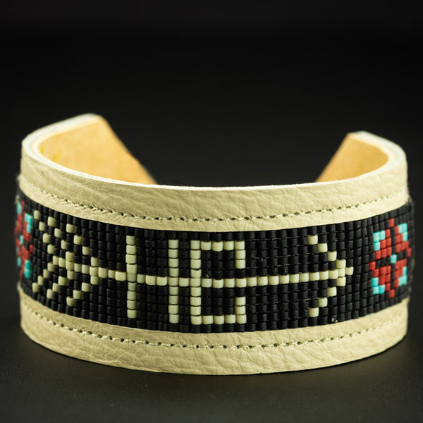 Happy Canyon Leather Beaded Bracelet