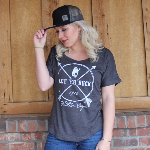 Ladies Pendleton Round-Up Arrow Dolman Tee