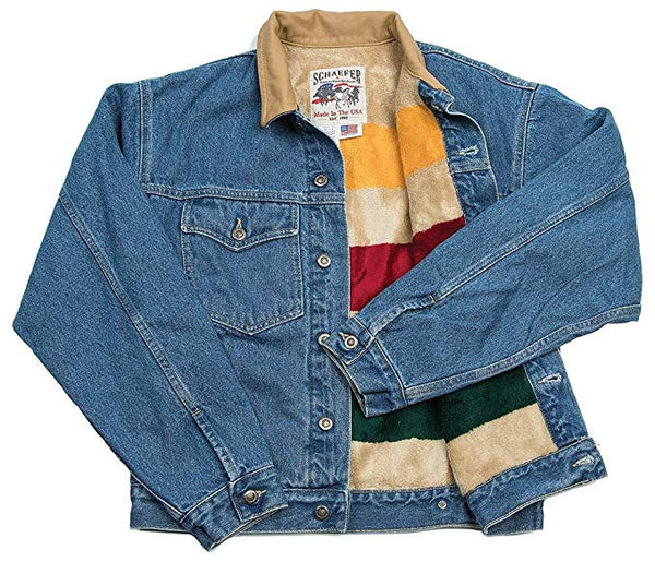 Men's Schaefer Pendleton Round-Up Fleece Lined Denim Jacket