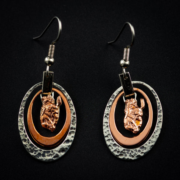 Pendleton Round-Up Vogt Oval Copper Earrings