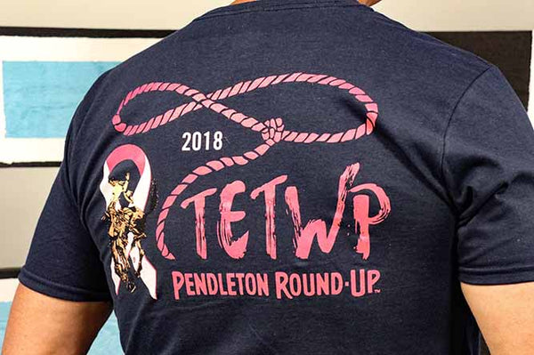 Pendleton Round-Up 2018 Tough Enough To Wear Pink Unisex Tee