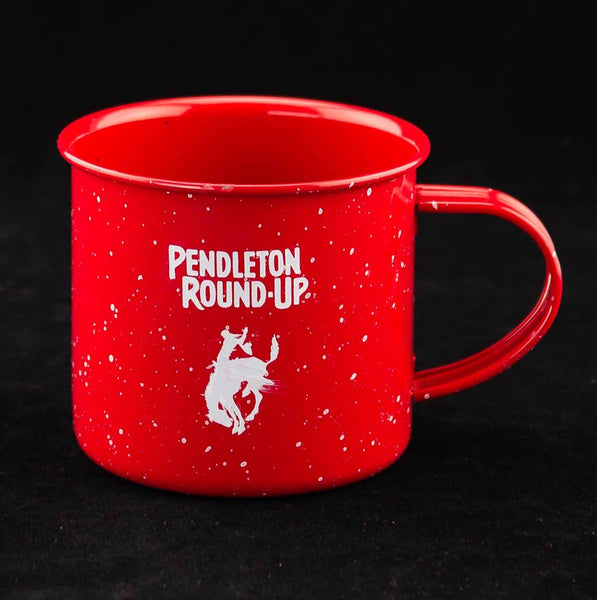 Pendleton Round-Up Red Metal Speckled Campfire Mug