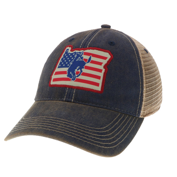 Pendleton Round-Up Oregon US Flag Trucker Hat