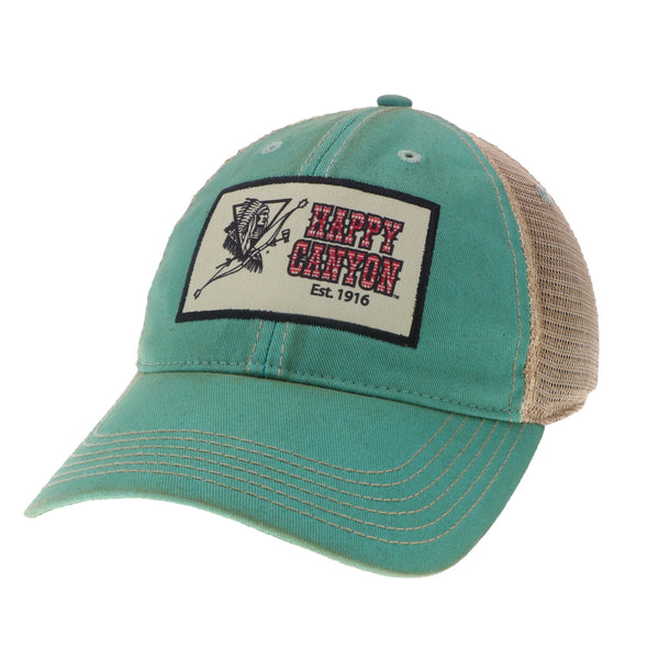 Happy Canyon Aqua Blue Arrow Trucker Hat