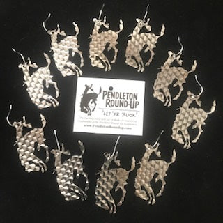Pendleton Round-Up Rasp Bucking Horse Earrings