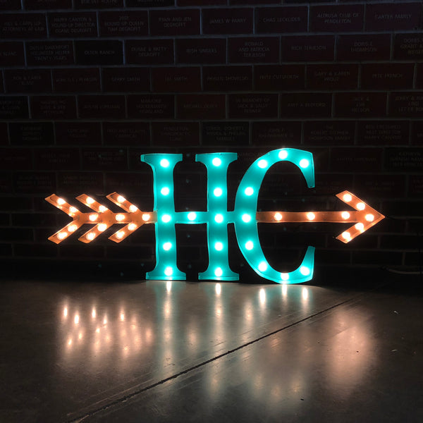 Happy Canyon Brand Metal Lighted Sign