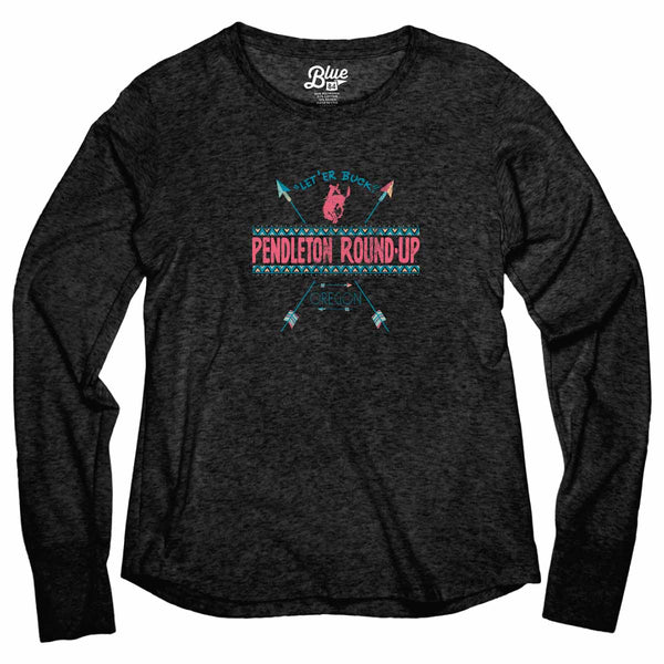 Ladies Pendleton Round-Up Waiting Line Long Sleeve Tee