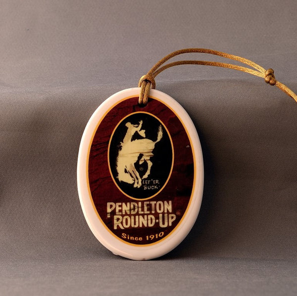Porcelain Pendleton Round-Up  Ornament