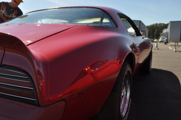 1976 Pontiac Firebird Formula 4-speed 400 Red Quarter Panel