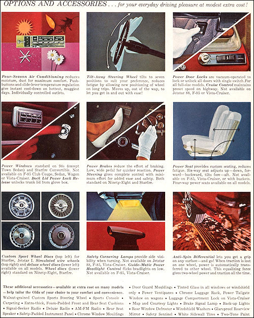 Oldsmobile Ad 1965 Options