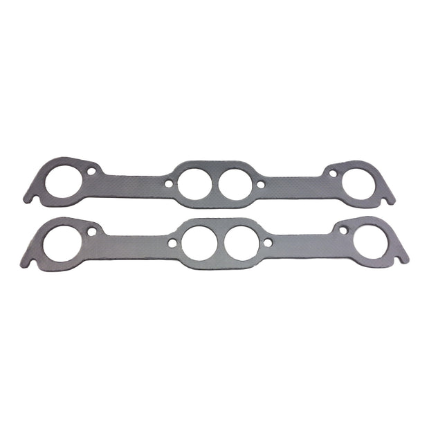 Graphite Pontiac V8 Round Port Exhaust Gasket Set - Gasket - RetroMotion Innovations - 1