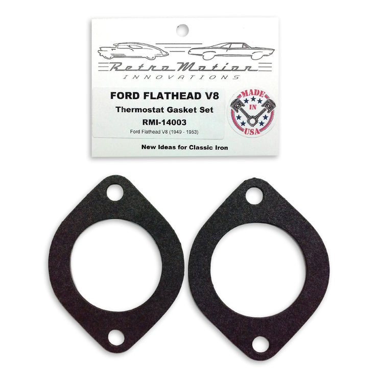 1949-1953 Ford Flathead V8 Thermostat Housing Gasket Set - Gasket - RetroMotion Innovations - 1