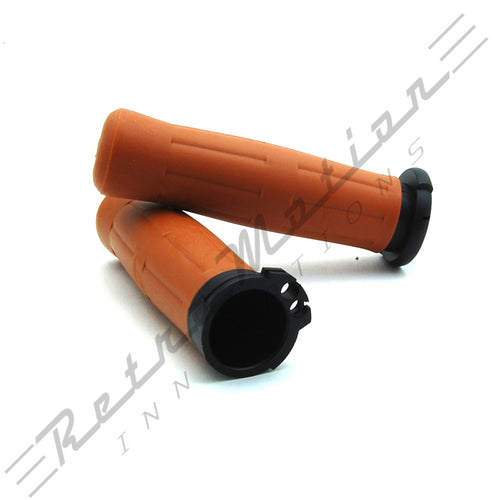 Old School Coke Bottle Grips for Harley Davidson - Tan