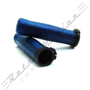 Harley Davidson Sparkle Blue Old School Grips Coke Bottle