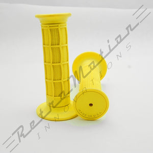 Yellow Half Waffle Dirt Bike Motocross hand grip