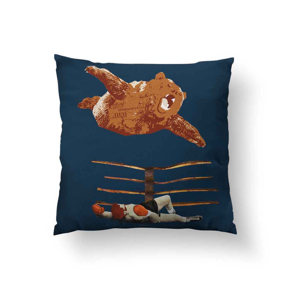 Bearial Attack Throw Pillow