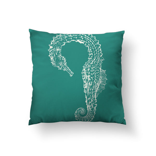 Seahorse Hug Throw Pillow