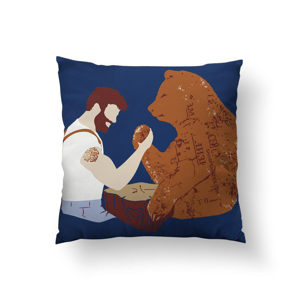 Arm Wrestling Throw Pillow