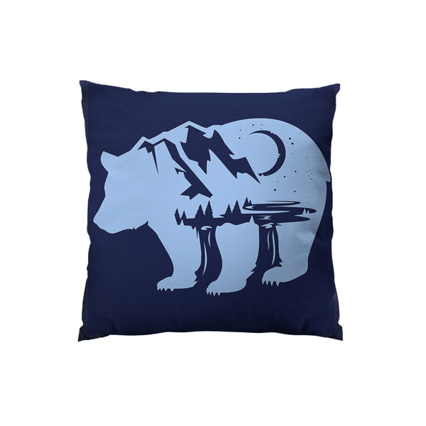 Bearscape Throw Pillow