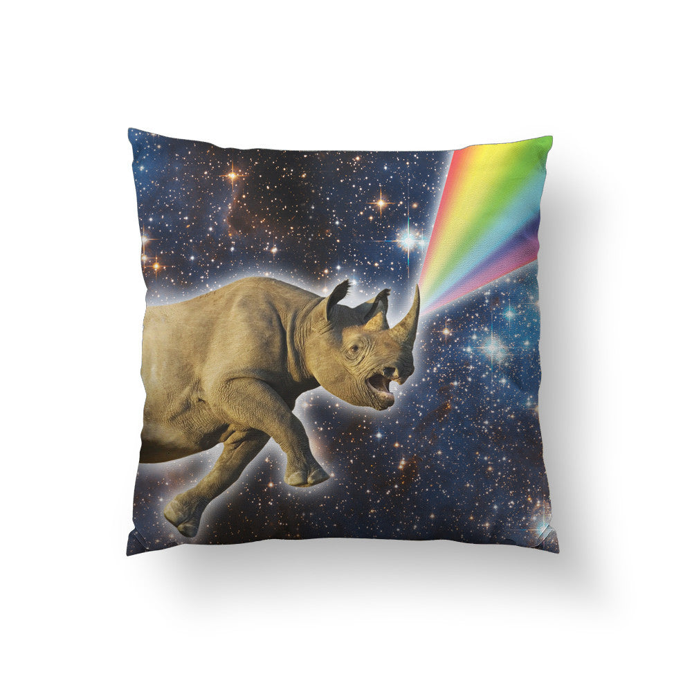 Rhinocorn Throw Pillow