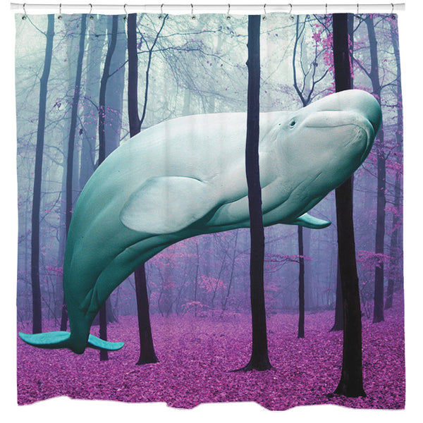 20000 Leagues Under The Trees Shower Curtain Sharp Shirter