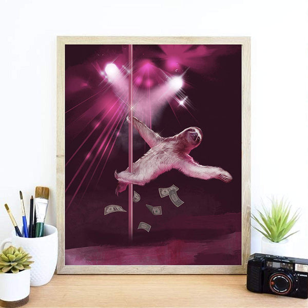 Stripper Sloth Art Print