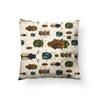 March of The Beetles Throw Pillow