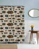 March of The Beetles Shower Curtain