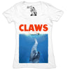 CLAWS Women's Graphic Tee Deep V-Neck