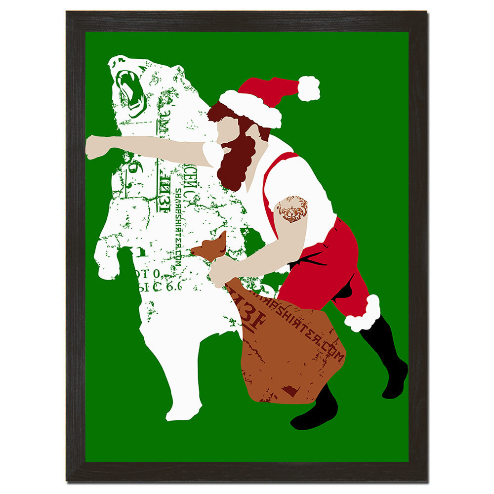 Christmas Bear Punch Art Print