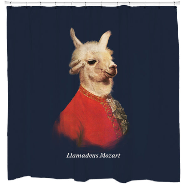 Llamadeus Mozart Shower Curtain