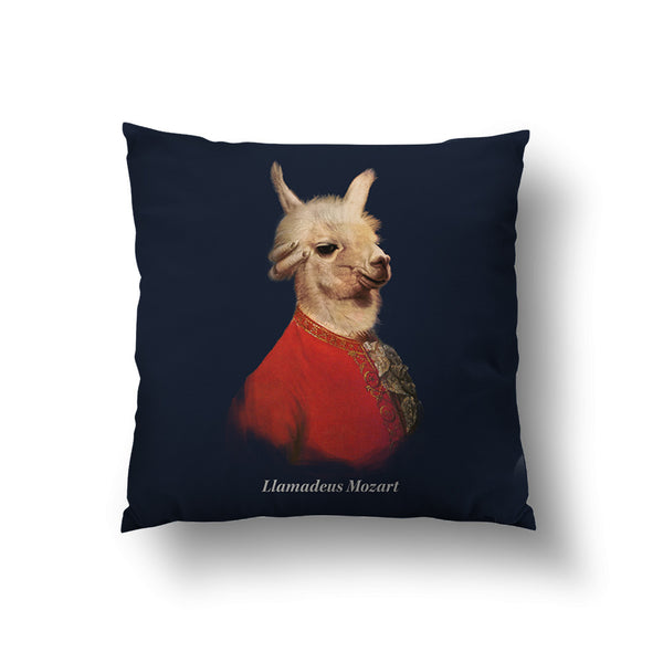 Llamadeus Mozart Throw Pillow
