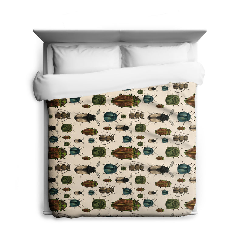March of The Beetles Duvet Cover
