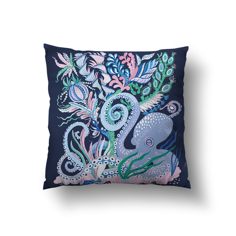 Octoparty Throw Pillow