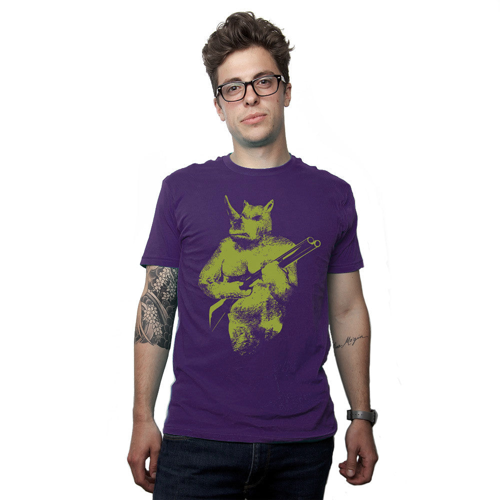 Rhino Hunter Men's Graphic Tee