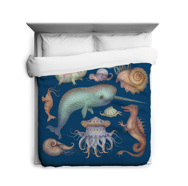 Sea Creatures Duvet Cover