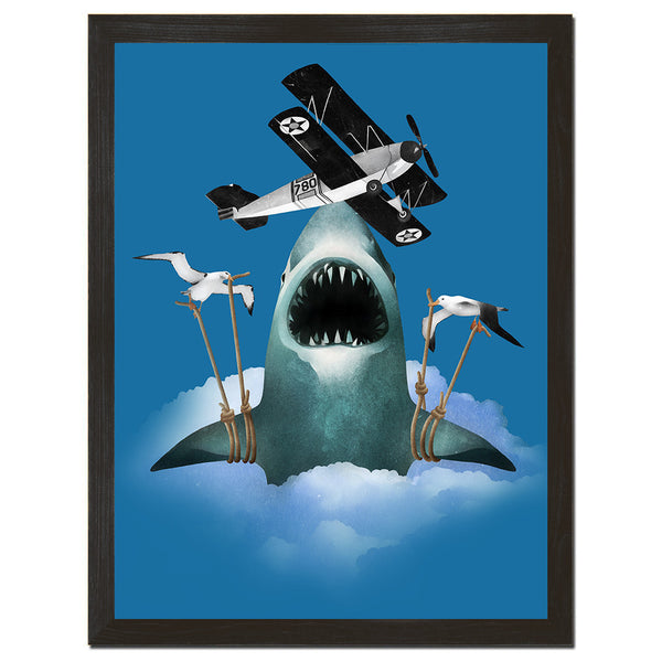 Air Shark Art Print