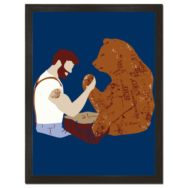 Arm Wrestling Art Print