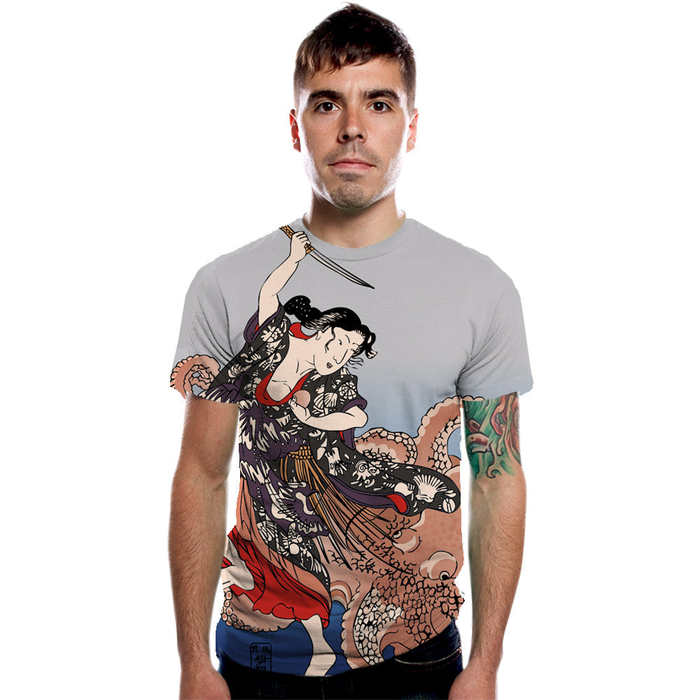 Battling the Octopus Men's Graphic Tee