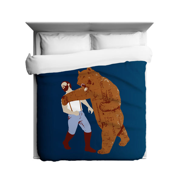 The Bear Strikes Back Duvet Cover