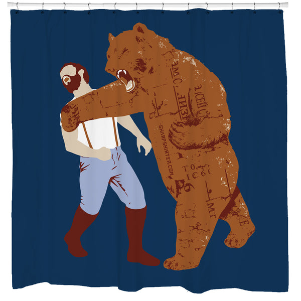 Bear Strikes Back Shower Curtain