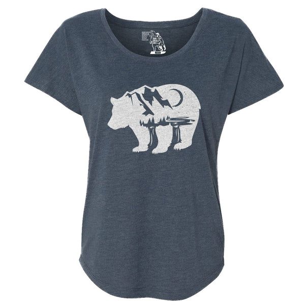 Bearscape Women's Graphic Tee Dolman Top